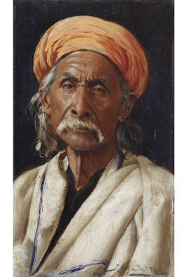Rudolf Swoboda's 'Bakshiram' (1886) One of a series of portraits commissioned by Queen Victoria