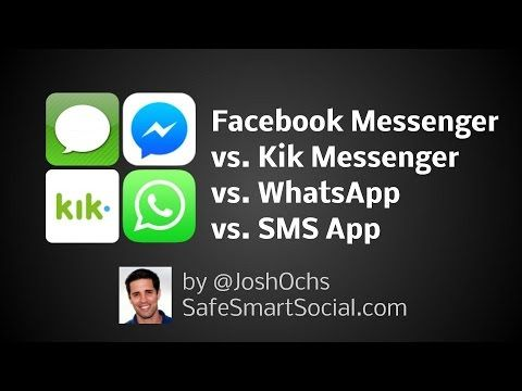 Facebook Messenger vs WhatsApp vs Kik Messenger - (More Info on: http://LIFEWAYSVILLAGE.COM/videos/facebook-messenger-vs-whatsapp-vs-kik-messenger/)