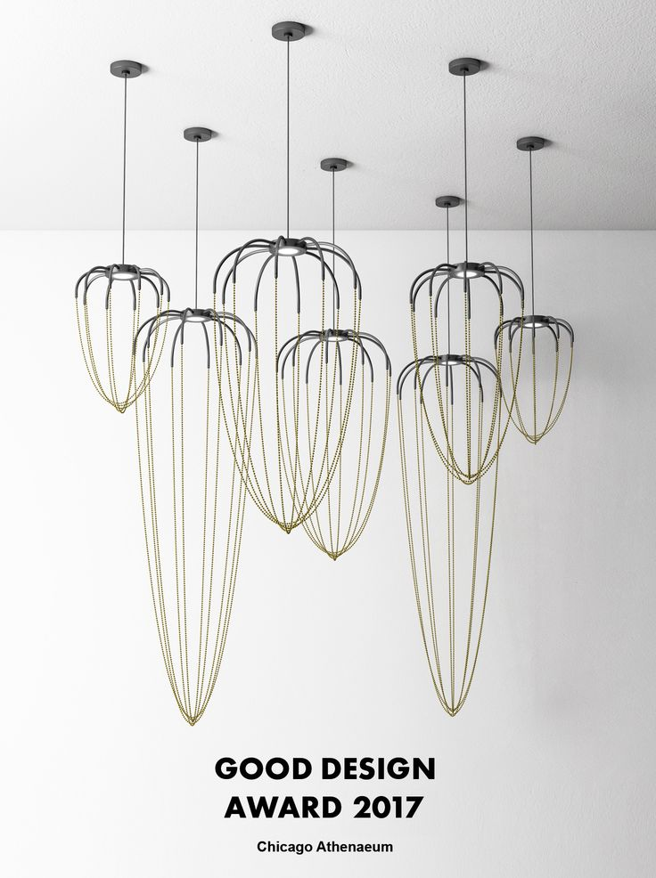 Alysoid by Ryosuke Fukusada, presented at Euroluce 2017, won Good Design Award 2017 in Lighting category. Alysoid consists of suspended lamps in several sizes. Thanks to the precious, draped chains that define the diffuser, it is marked out by the imperceptible and strongly decorative soul. #alysoid #axolight #design #lighting #gooddesign2017 #gooddesignaward #chicagoathenaeum