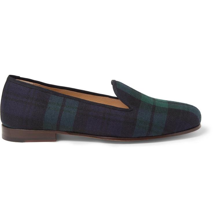 Stubbs & WoottonWatch Plaid Slippers|MR PORTER