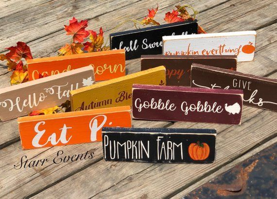 10 Rustic Fall Signs Rustic Fall Decoration Rustic Fall Decor Thanksgiving Decor Thanksgiving Signs Small Wreath Signs Give Thanks Sign Falldecor Thanksgiving Signs Rustic Fall Decor Fall Decor