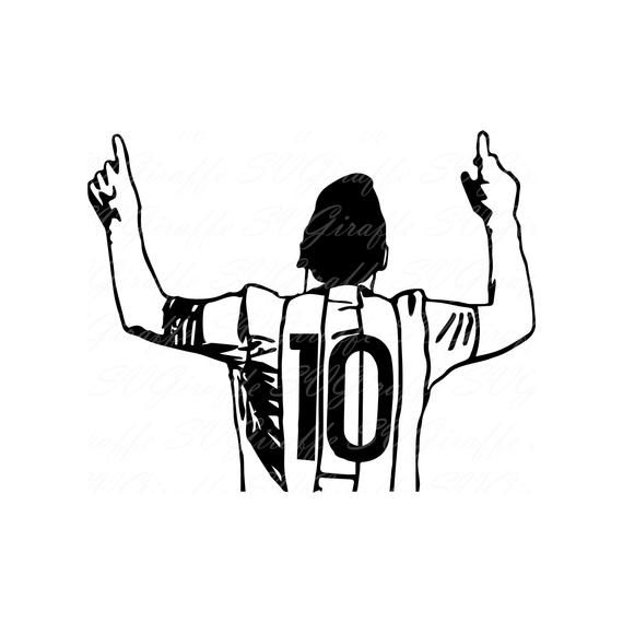 Lionel Messi Svg Dxf Png Pdf Jpg Files Messi Vector File Lionel Messi Cricut File Messi Sillou Tatuaje De Messi Fotos A Lapiz Dibujos De Futbol