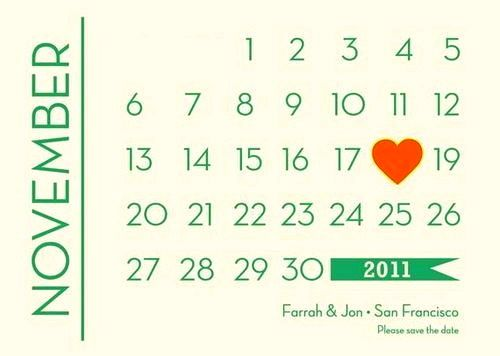 Deco Calendar Save The Dates - Art Deco Weddings