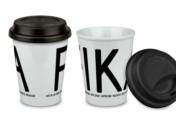 Fika to go mug by emelie I love design