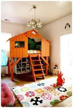 i love this indoor treehouse! as long as my kids will still have enough imagination to build blanket and pillow forts :]