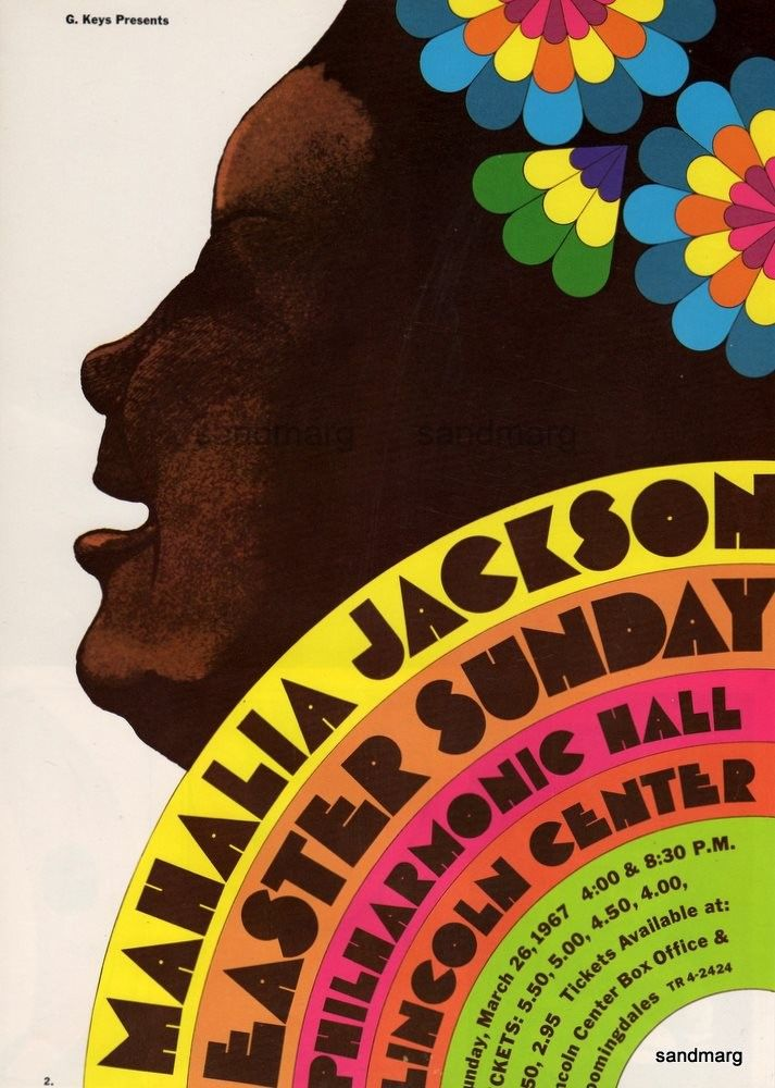 1967 Mahalia Jackson by Milton Glaser by sandmarg on Etsy
