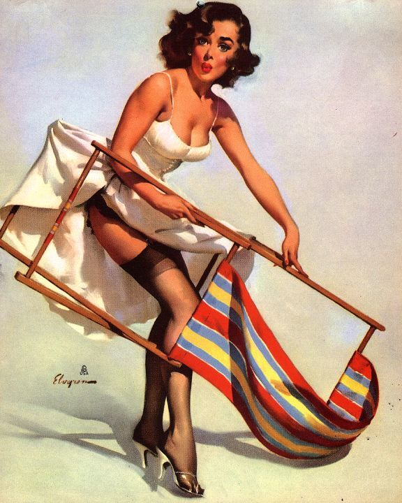 1930s beach posters | Pin up Girl Pictures: Gil Elvgren 1950s Pin Up Girls