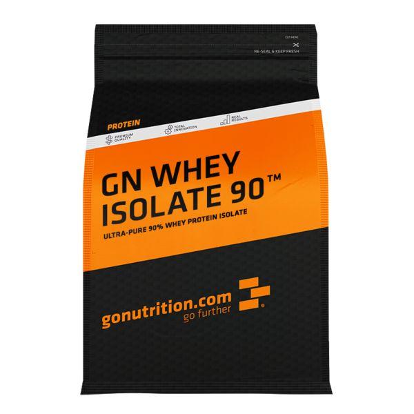 GN Whey Isolate 90 - ™GoNutrition - Benefícios Chave - 90% de proteína de alta qualidade por dose! - Ideal para a recuperação, reparação e crescimento muscular. - Proteína Isolada rica em BCAAs e ácido glutâmico.