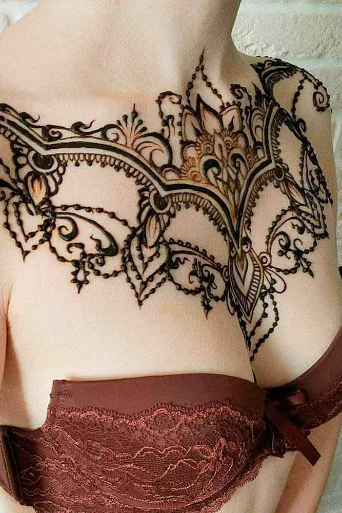 Tribal Tattoo Ideas For Shoulder And Chest Tattoos For Women Henna Tattoo Designs Tribal Chest Tattoos Henna Tattoo