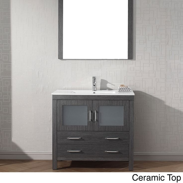 Virtu Usa Dior 36 Inch Single Sink Vanity Set In Zebra Grey By Virtu Usa Shopping Drawers And