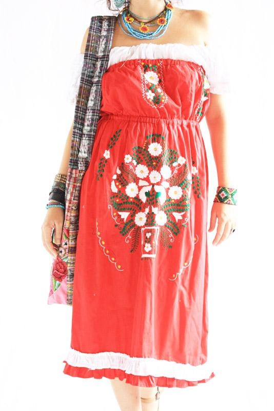Images about mexican embroidered dresses on