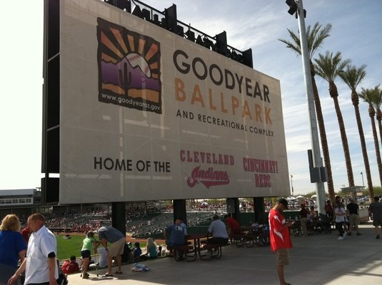 Cleveland Indians Spring Training Camp in Goodyear, Arizona.