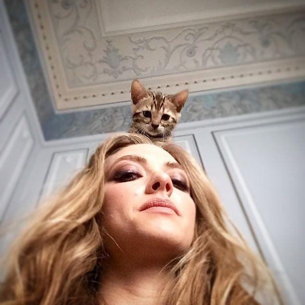 "La twitpic d'Amanda Seyfried: @mingey : ""Paris Fashion Week"".   © Instagram / Twitter"