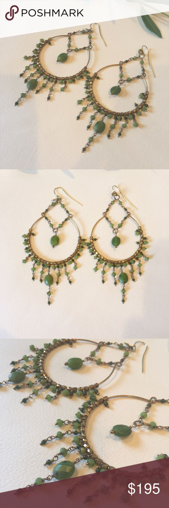 Anthropologie UK designer peridot earrings NWOT Anthropologie UK designer gold & peridot earrings NWOT Anthropologie Jewelry Earrings