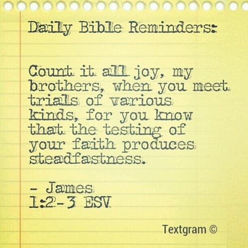 James 1:2-3 // Scripture Love