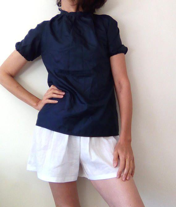Rami linen shorts plus size culottes linen culottes ruffled