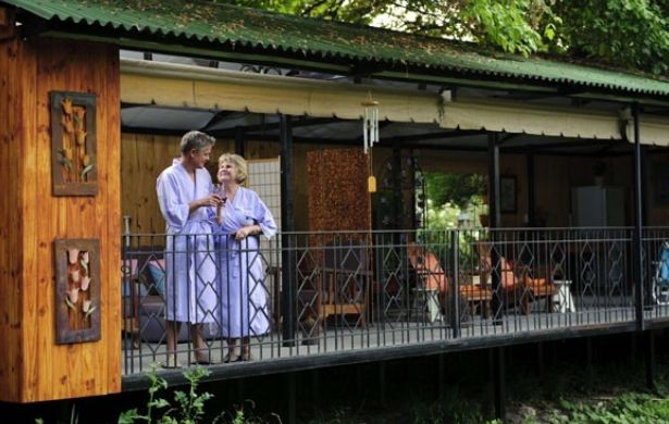Guests can enjoy treatments on the deck over looking the Craighall brook , meditate or just relax and enjoy nature at one of the many rest spots dotted around the garden. Light Breakfast, lunches, High Teas and Conversation Picnic Baskets can be enjoyed at our Fresh Coffee Shop.  www.handsonretreat.co.za