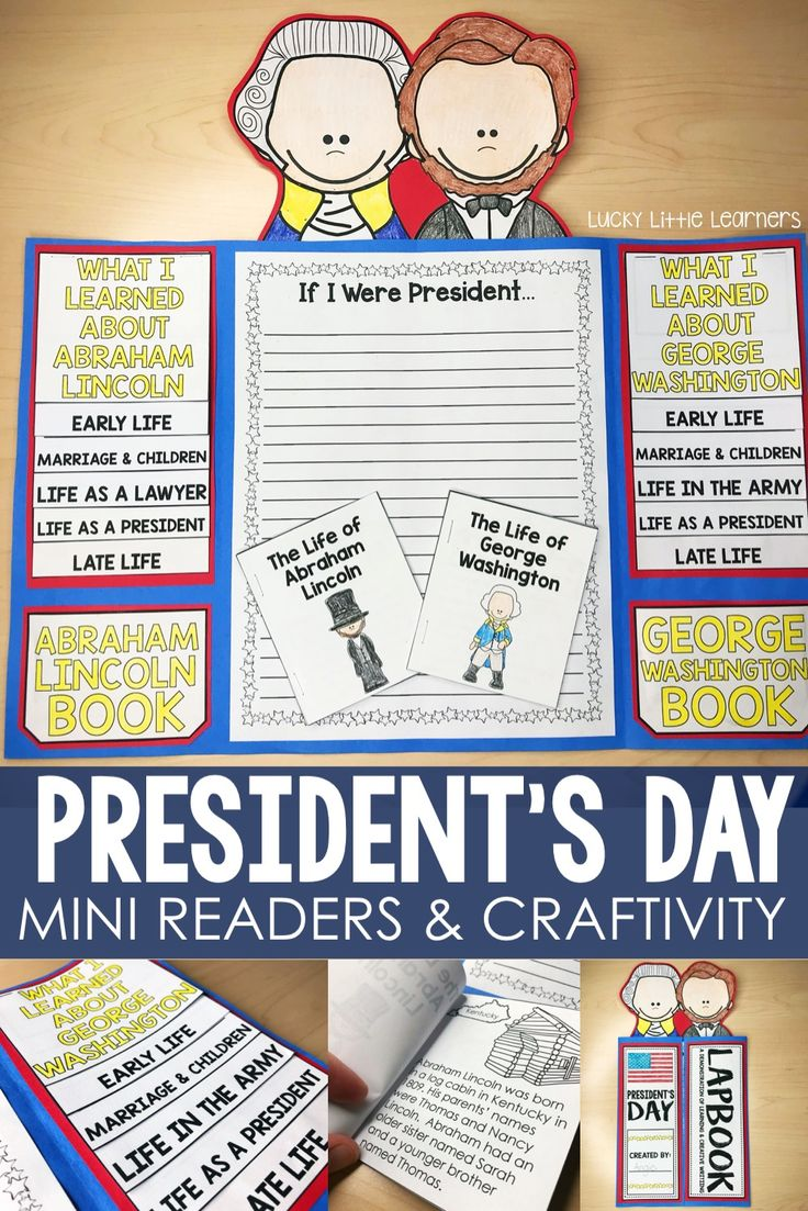Celebrate President's Day in your classroom with this lapbook unit! Your students will enjoy learning about Abraham Lincoln and George Washington through the use of mini books that are provided with this lapbook project. They will also practice their creative writing skills with a project that focuses on what they would do if they were president! This is such a fun, hands-on, and informative unit!