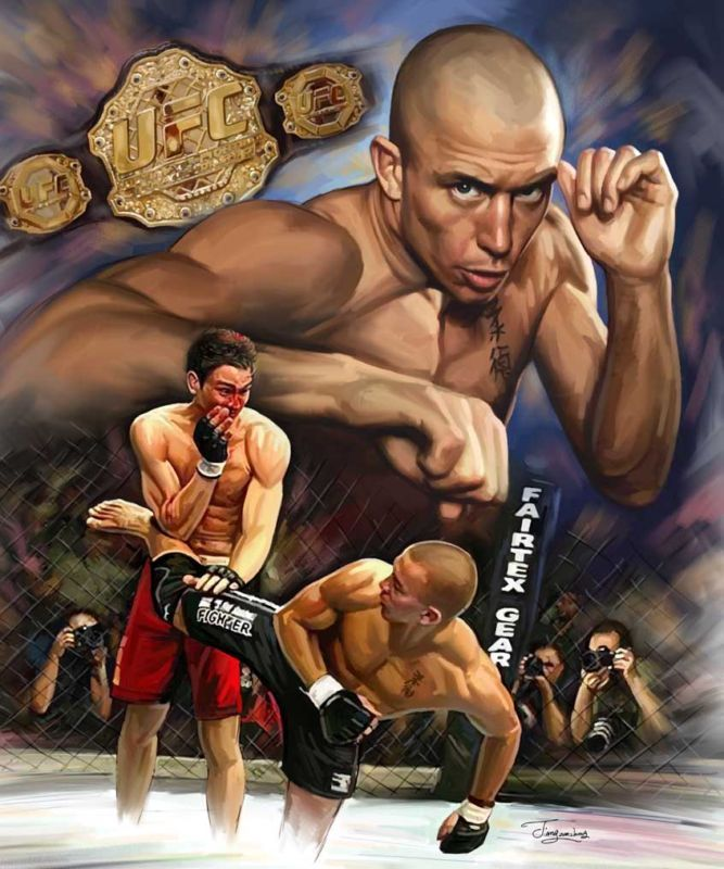 find this pin and more on gsp george rush st pierre ufc welter weight champion