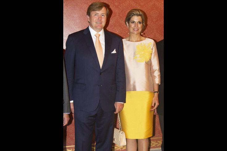 La reine Maxima et le roi Willem-Alexander à l'ambassade des Pays-Bas à Washington, le 1er juin 2015