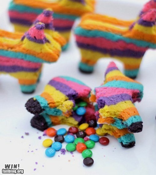 YES! Most creative baking idea ever, actual pinata cookies.