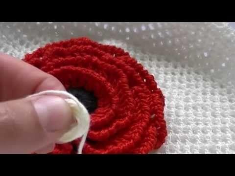 Как вязать мак крючком. часть 1/4 - YouTube