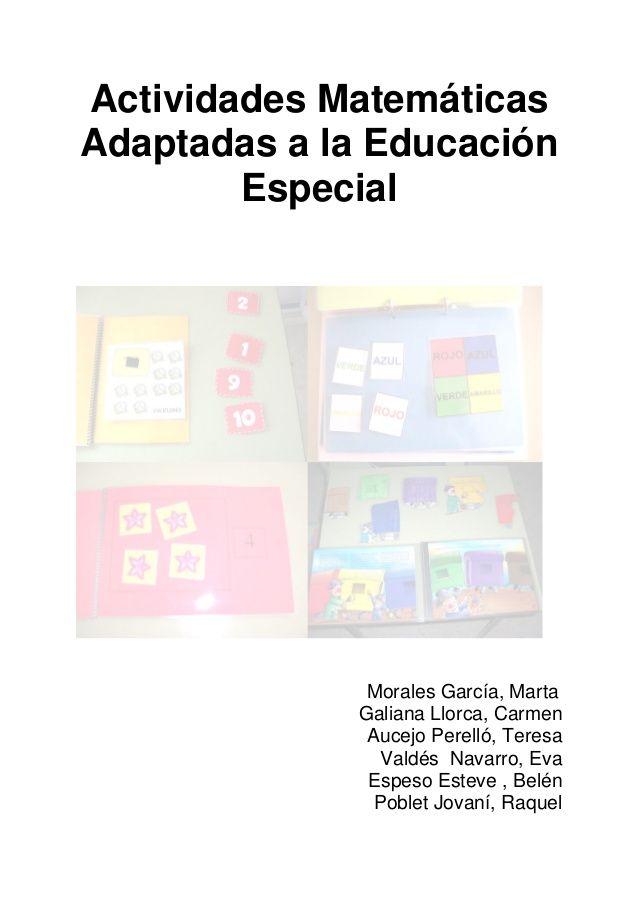 Actividades Matemáticas adaptadas a la educación Especial
