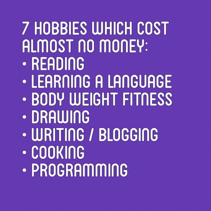 7 hobbies you can afford