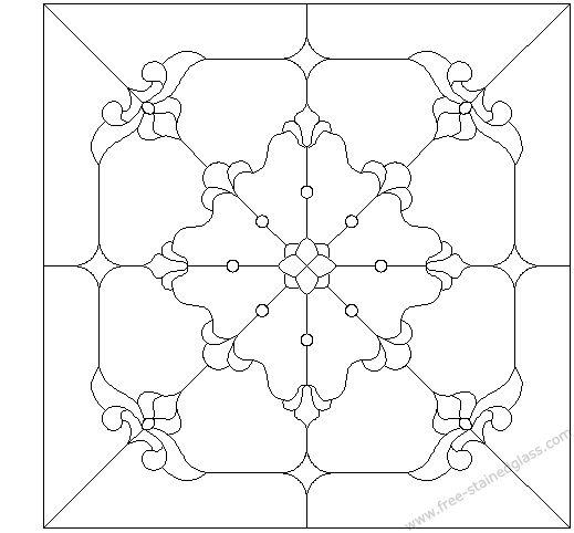 Muster f. Fenster und Mosaikböden