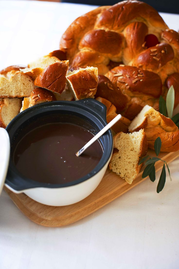 Go Greek this #Easter with tsoureki, a braided brioche type bread. Serve with butter or chocolate sauce for extra indulgence.