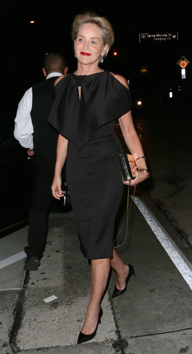 Moda para mulheres com 50 anos ou mais: Sharon Stone