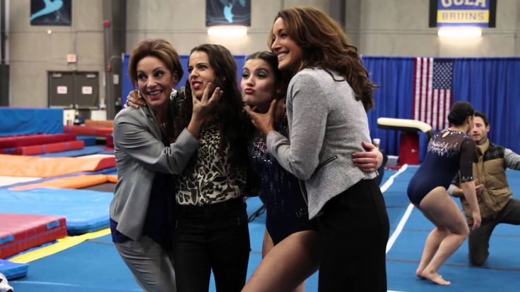 Olympians Samantha Peszek and Jordyn Wieber Visit the Set of FULL OUT