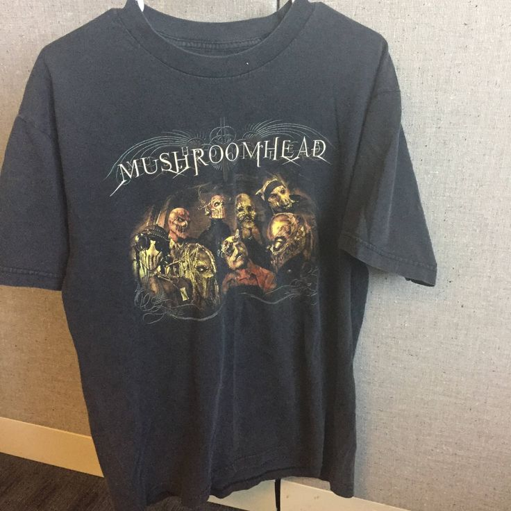 A personal favorite from my Etsy shop https://www.etsy.com/listing/542301571/vtg-mushroomhead-rock-band-tee-adult