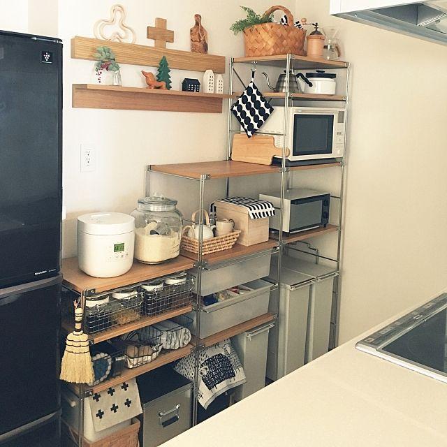 キッチン 無印良品 収納 食器棚 賃貸 などのインテリア実例 2014 12 05 21 45 00 Roomclip ルームクリップ ユニットシェルフ 無印良品 ユニットシェルフ キッチン 小さなキッチンのデザイン
