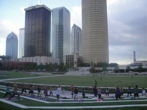 Free Yoga in the Park in Tampa's Downtown Curtis Hixon Park