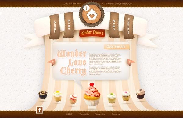 Hey Cupcake Web Layout by Nhan Do, via Behance