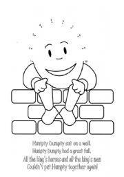 Humpty Dumpty Worksheets