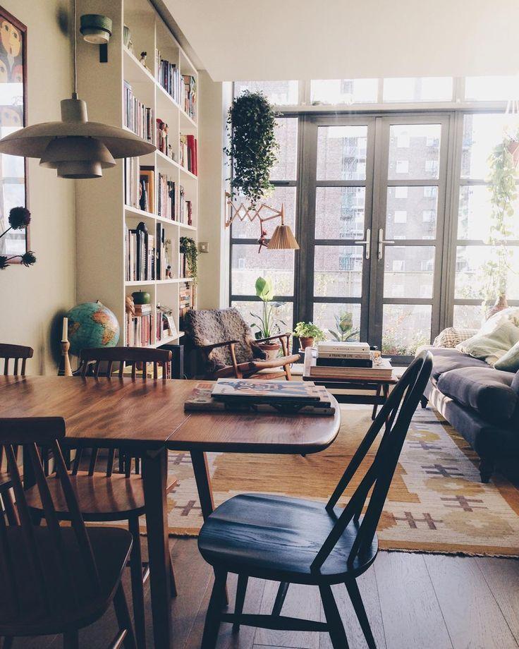 Friday   clean flat day by weareherenow on Instagram   Apartment  BookshelvesBookshelves Living RoomTv Living RoomsCozy