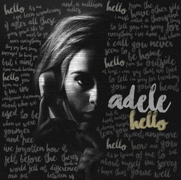 Slightly obsessed right now Hello - Adele lyrics