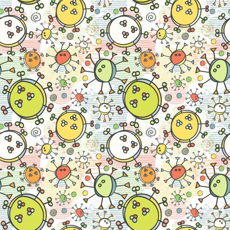 Happy Microbes fabric by milly_dee on Spoonflower - custom fabric