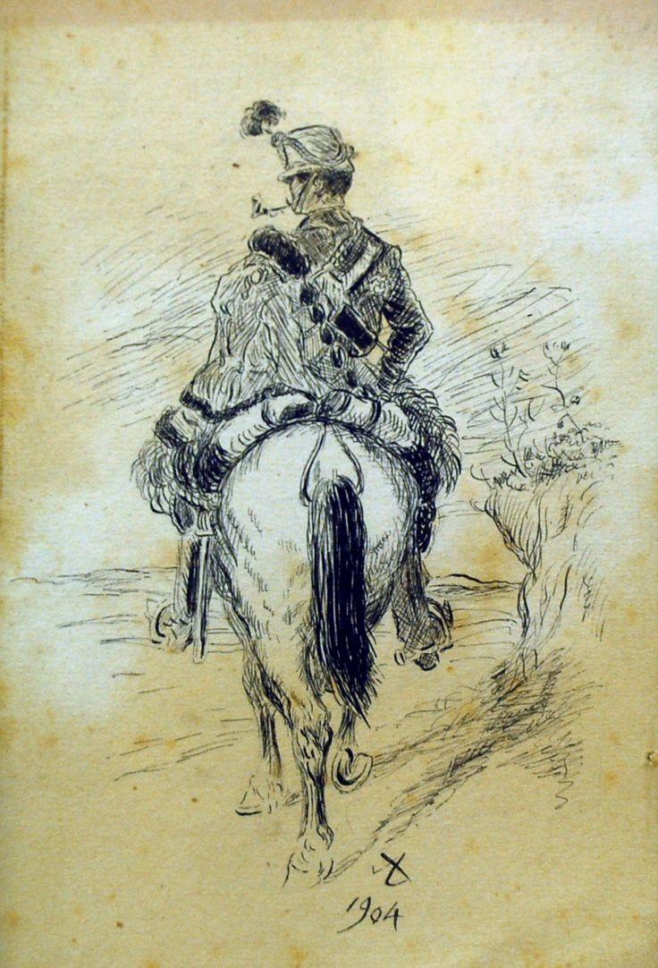 Aleš Mikoláš (1852 - 1913) Jezdec