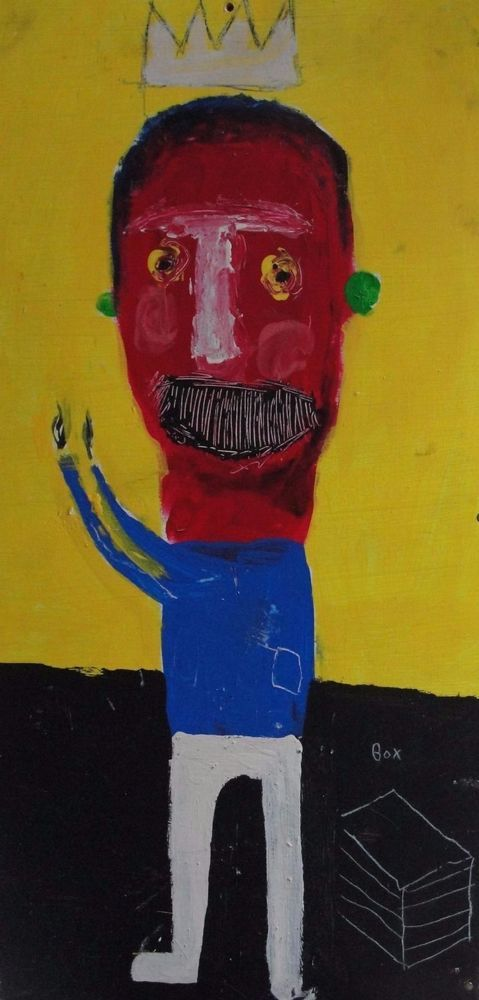 """MICHAEL BANKS  OUTSIDER SOUTHERN MODERN FOLK ART PAINTING ABSTRACT POP """"CROWN"""""""