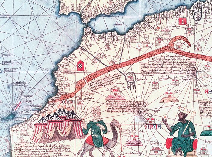 best black history images african history detail from catalan atlas 1375 was produced by the majorcan cartographic school