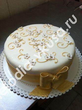 Одноярусный свадебный торт луганск