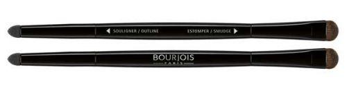 Το Bourjois double ended eyeshadow brush είναι ένα πινέλο ματιών διπλής όψης. Στη μία πλευρά, υπάρχει το flat smudger, ιδανικό για να σχηματίσετε το κόκκαλο του φρυδιού και να απλώσετε την σκιά. Επίσης, μπορεί να χρησιμοποιηθεί και ως πινέλο χειλιών. Στην άλλη πλευρά, υπάρχει το smudger σ