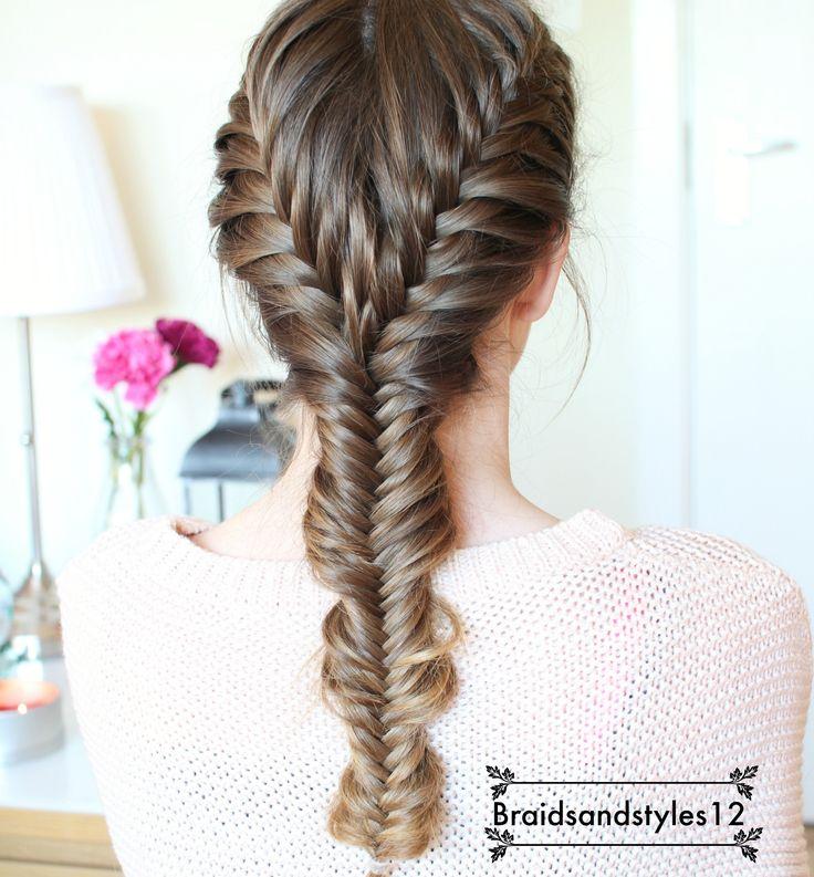 DIY Fishtail Braid Hair Tutorial by Braidsandstyles12. Braids , Hair, Hairstyles, Pretty Hairstyles. Tutorial : https://www.youtube.com/watch?v=MKx8lU0WE-c
