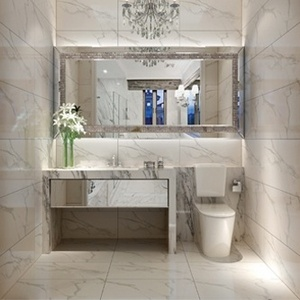 The Eleganza Gemstone Calacatta Collection Is A High Gloss Porcelain Tile That Looks Like Marble And