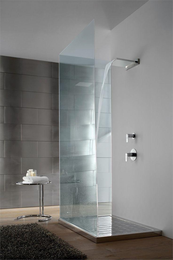 shower column with overhead shower aqua sense by graff europe west bathroom minimal