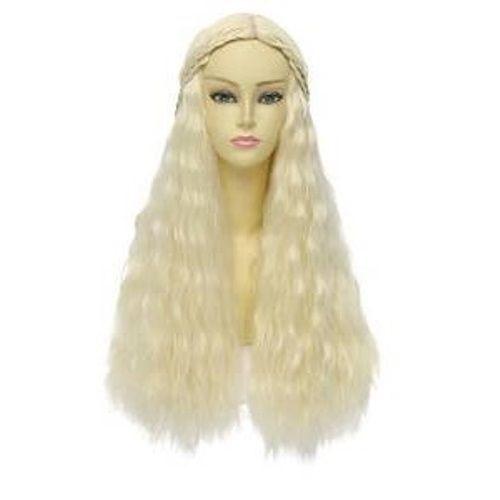 Khaleesi Halloween Wig Game Of Thrones Costume Accessories Blonde Long Wavy Hair #KhaleesiHalloweenWig #KhaleesiDaenerysTargaryen