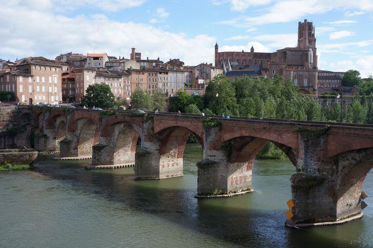 Le Pont Vieux à Albi (Tarn), 21/06/2013